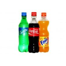 Coca Cola, Fanta, Sprite 0,5 л.